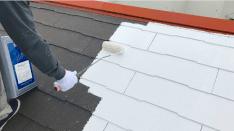 栃木県下野市【快適リフォーム】外壁塗装・屋根塗装はお任せ | 屋根塗装作業の画像